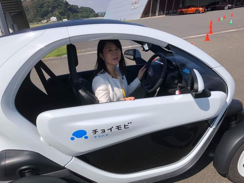 超小型モビリティ、自動運転車両の試乗視察