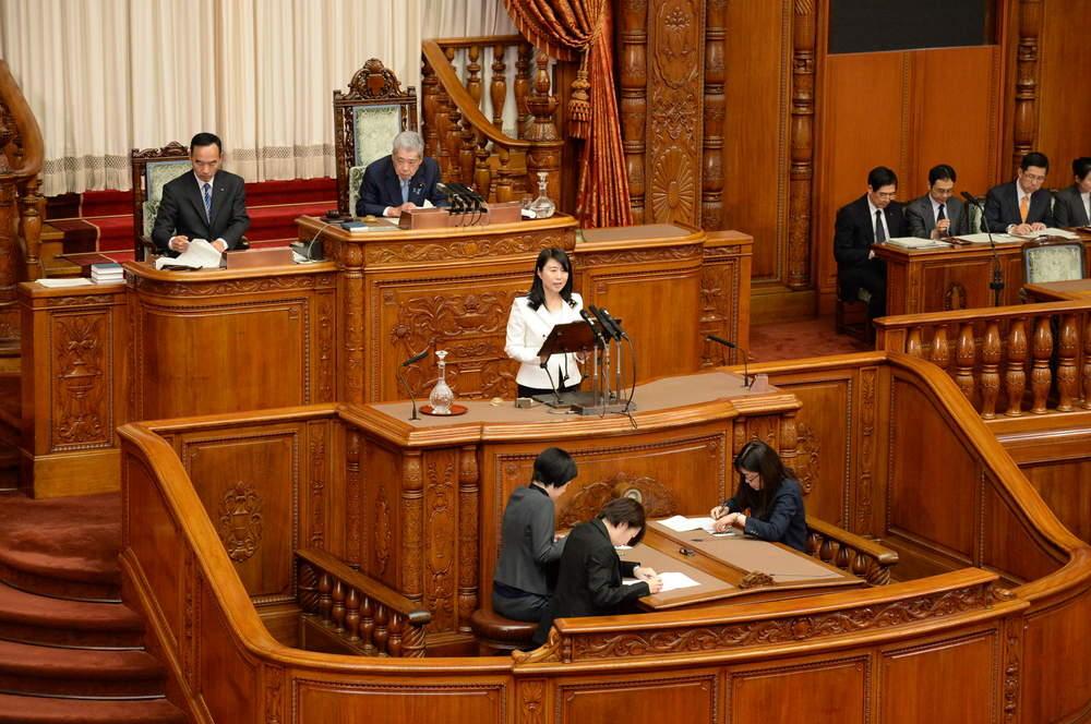 深夜未明の本会議、法務大臣問責決議案で登壇
