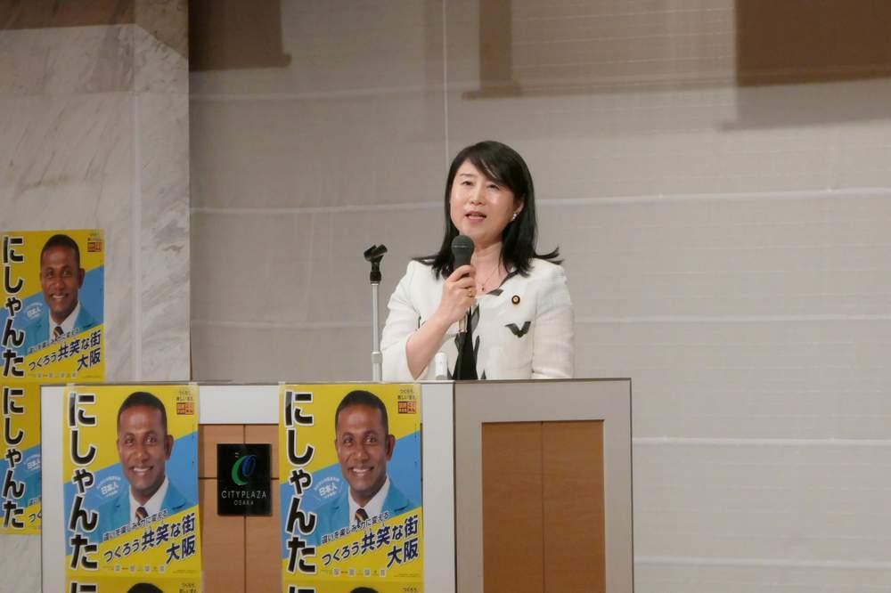参院選決起集会で大阪へ