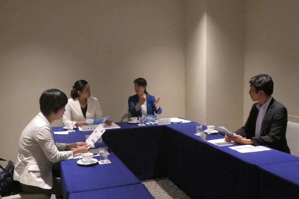 女性候補者擁立に関する勉強会へ