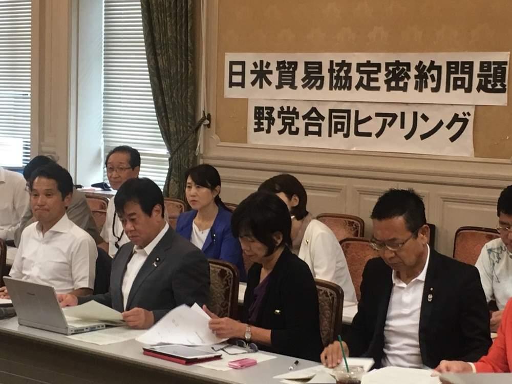 日米貿易協定密約問題 各省庁より合同ヒヤリング