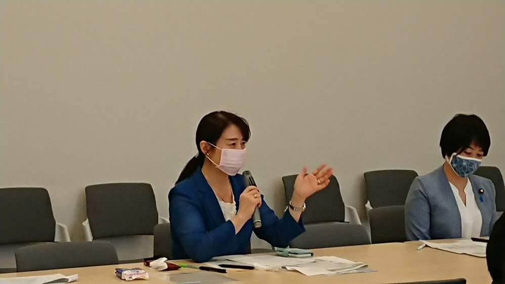 新型コロナウイルス対策本部総会、日本電気労働組合の組合員の皆さんとの意見交換