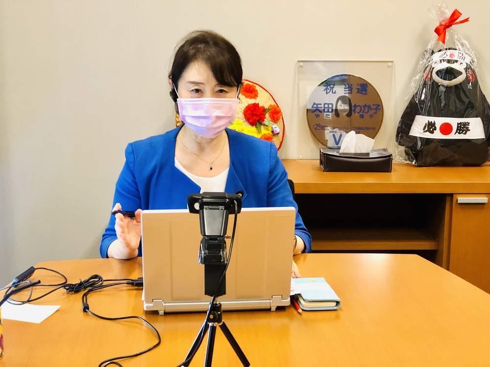 質問レク、神奈川地協定期大会挨拶