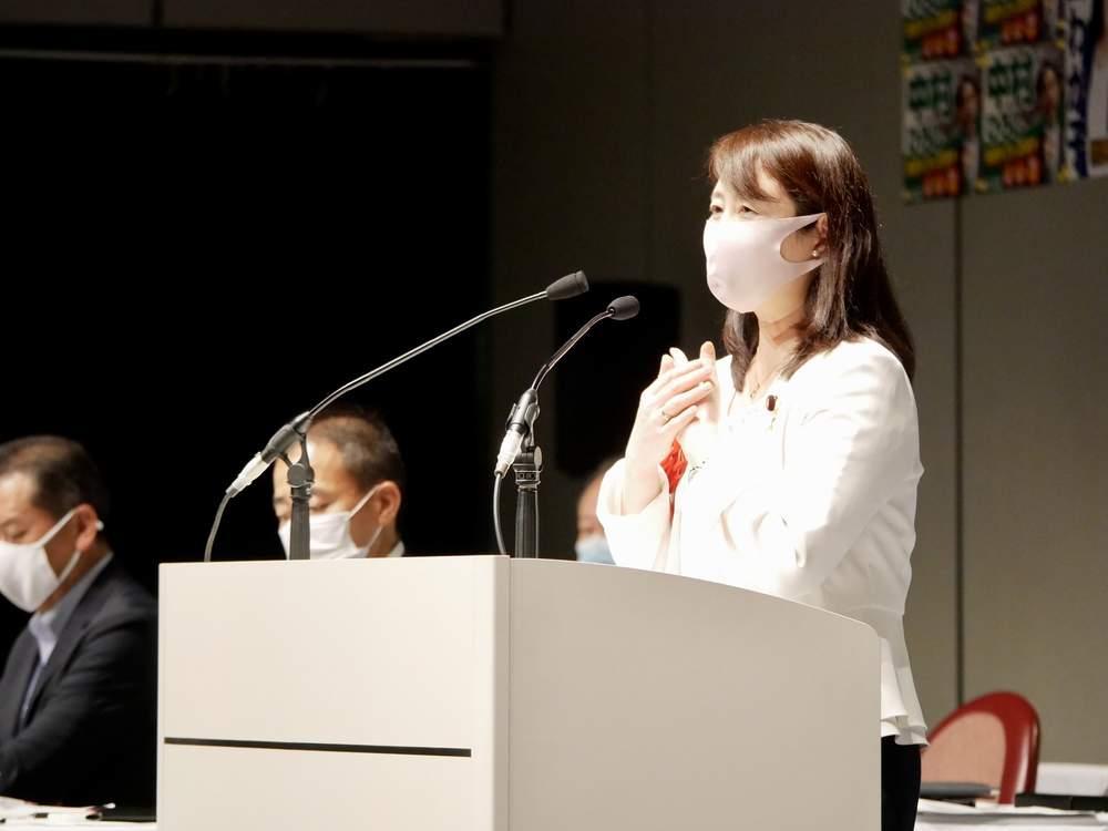 東京地協定期大会挨拶、電機連合産業社会政策委員会国政報告