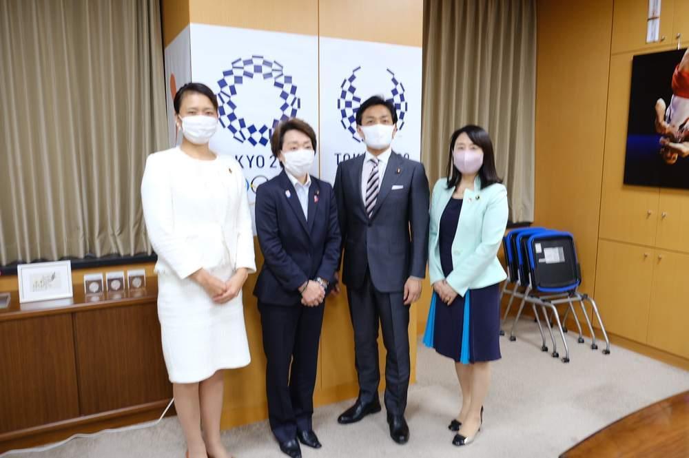 出産議員ネットワークからの陳情、橋本大臣への選択的夫婦別姓制度法制化の要請ほか
