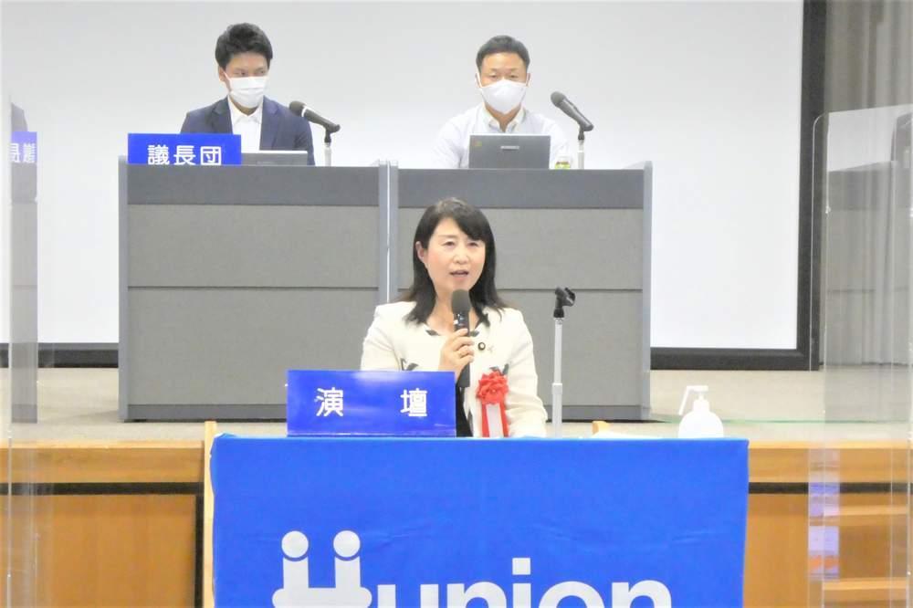 大阪での活動初日 労組大会出席、会社幹部とワクチン職域接種に関して意見交換