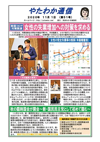女性の失業増加への対策を求める